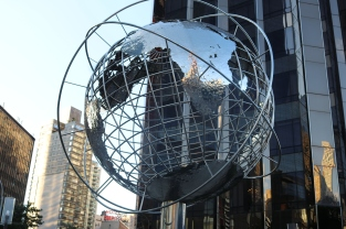 Globe sculpture at Columbus Circle